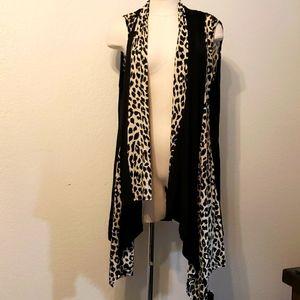 Always Indigo leopard print vest. 2X